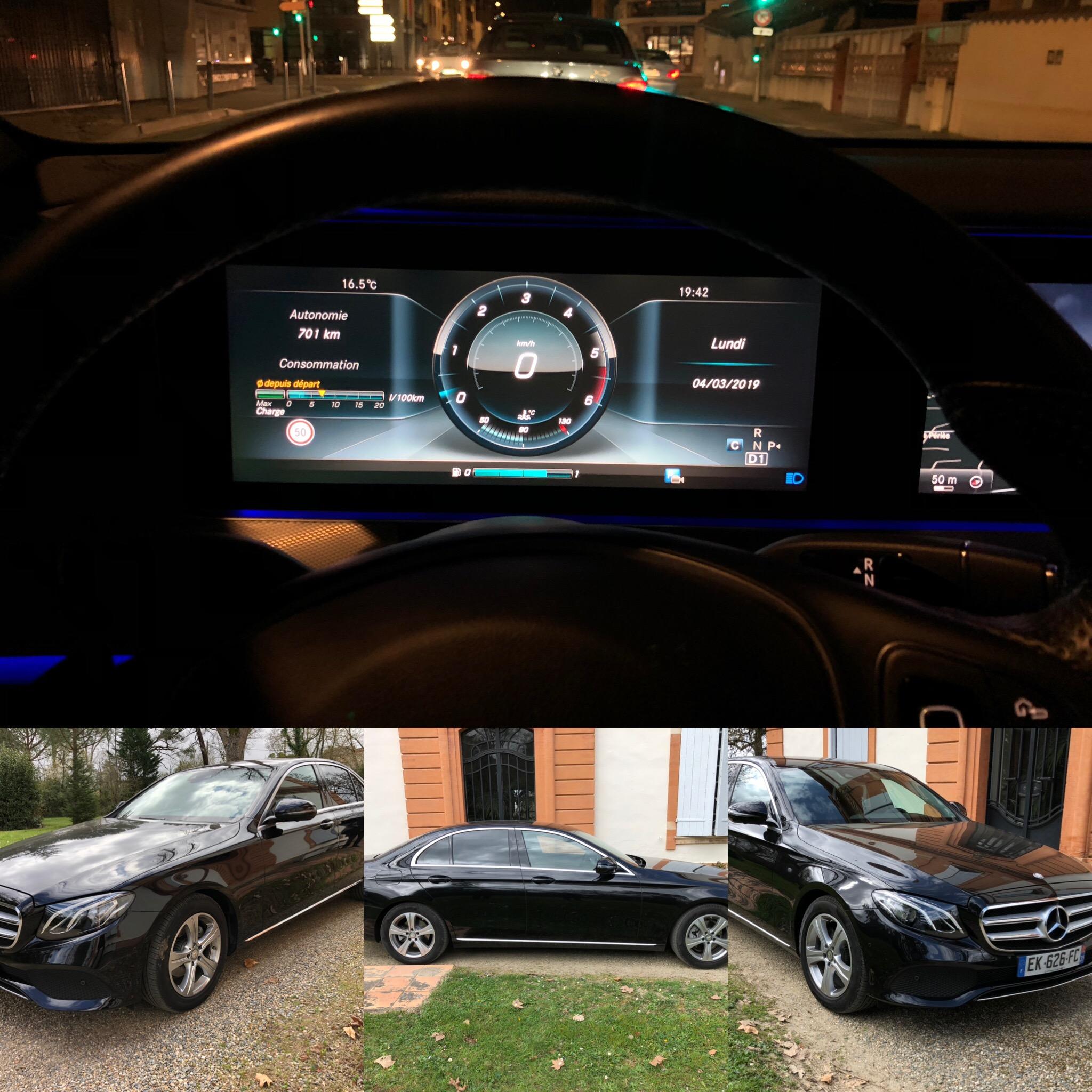 Nouvelle Mercedes Classe E vous nos missions VIP de véhicule avec chauffeur autour de Toulouse